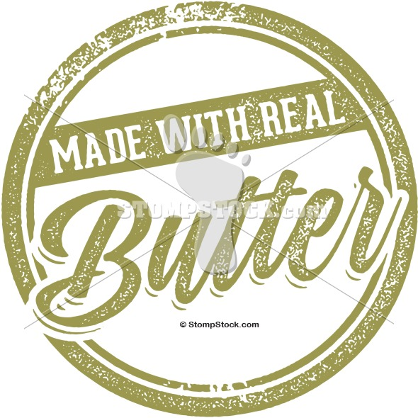 Vintage Stamp – Made with Real Butter