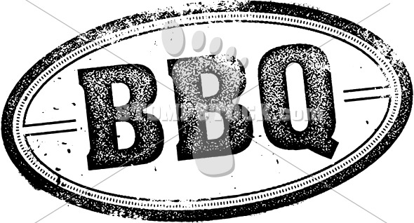 Vintage BBQ Logo Menu Design Stamp