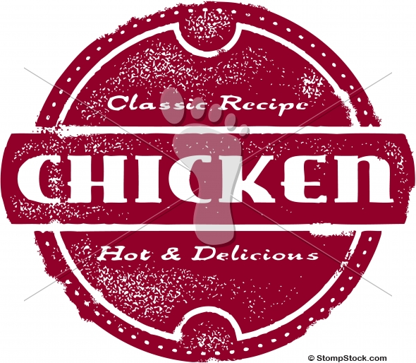Classic Style Chicken Menu Stamp