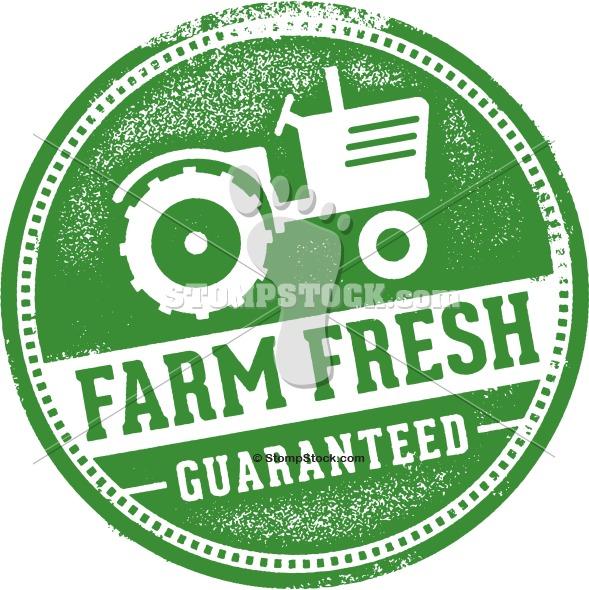 Farm Fresh Rubber Stamp Clip Art Label