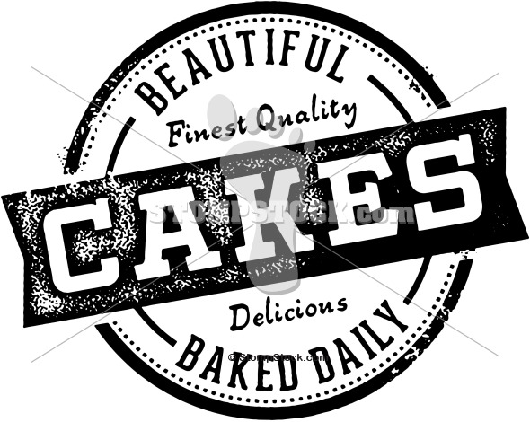 Vintage Style Cake Bakery Sign