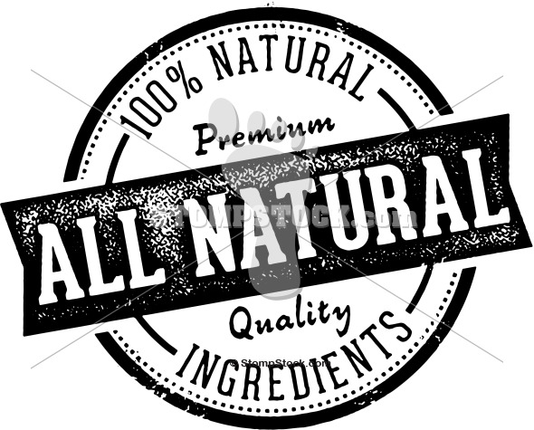 All Natural Product Stamp Label