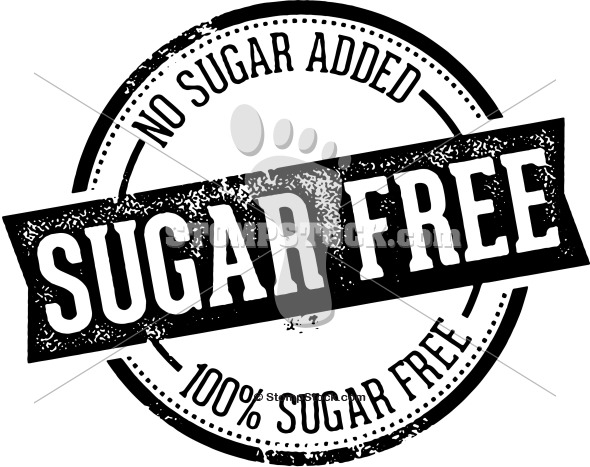 Sugar Free Product Label Stamp