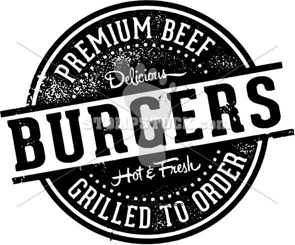 Premium Burgers Menu Design