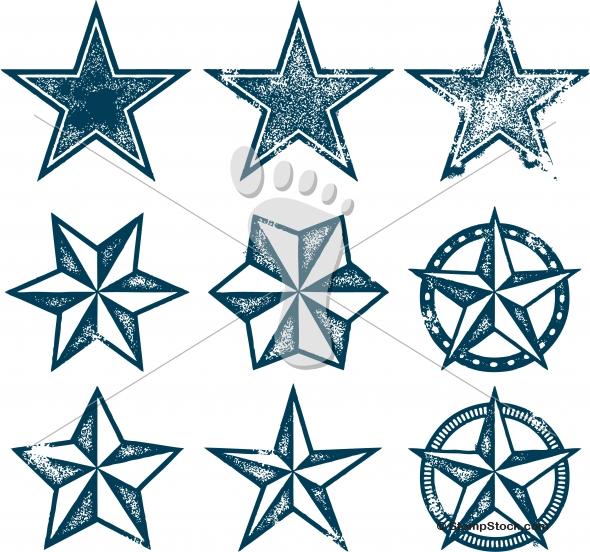 Grunge Patriotic Stars