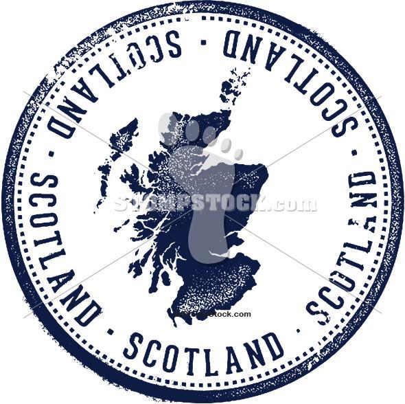 Vintage Scotland Passport Stamp