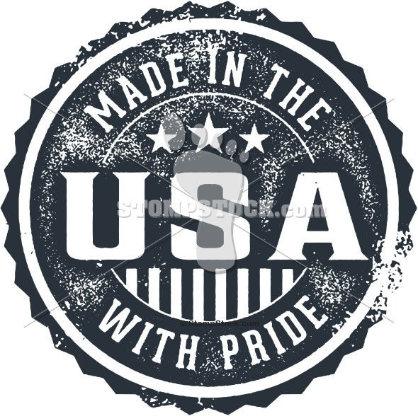 Made in the USA With Pride Product Logo Label
