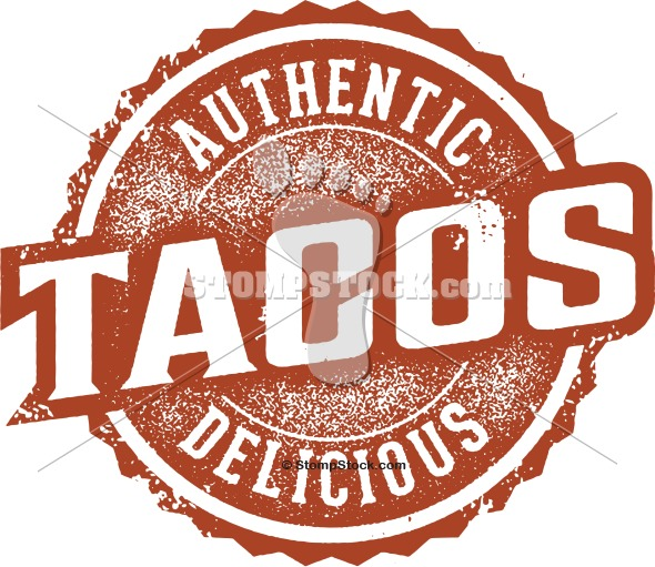 Authentic Mexican Tacos Graphic