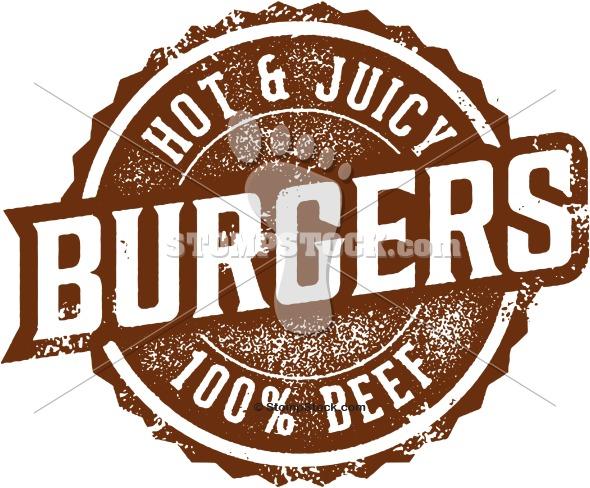 Vintage Burgers Sign – Clip Art