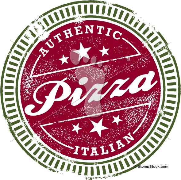 Authentic Italian Pizza Menu Stamp
