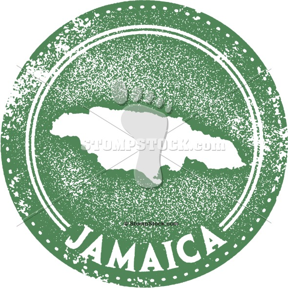 Vintage Jamaica Travel Stamp