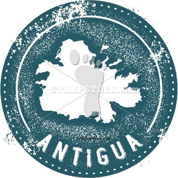 Vintage Antigua Caribbean Country Clip Art
