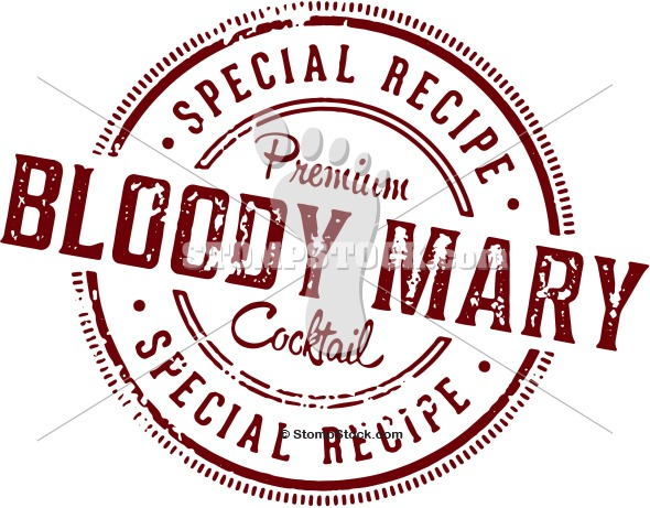 Vintage Bloody Mary Cocktail Design