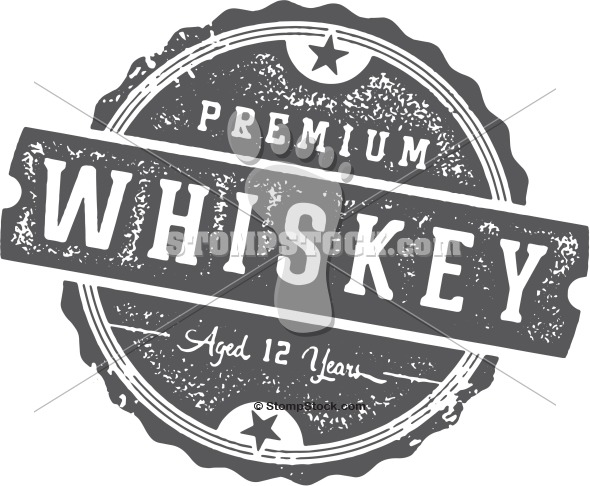 Vintage Whiskey Label Stamp