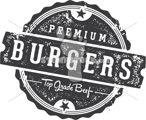 Restaurant Menu Design Stamp – Burgers