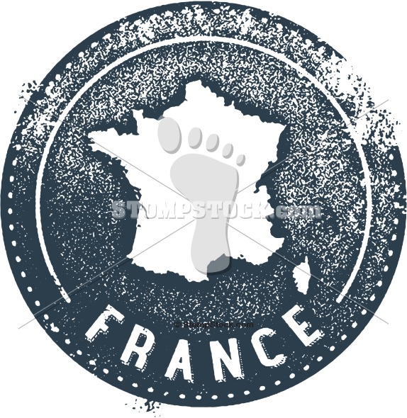 France Country Stamp Stock Image