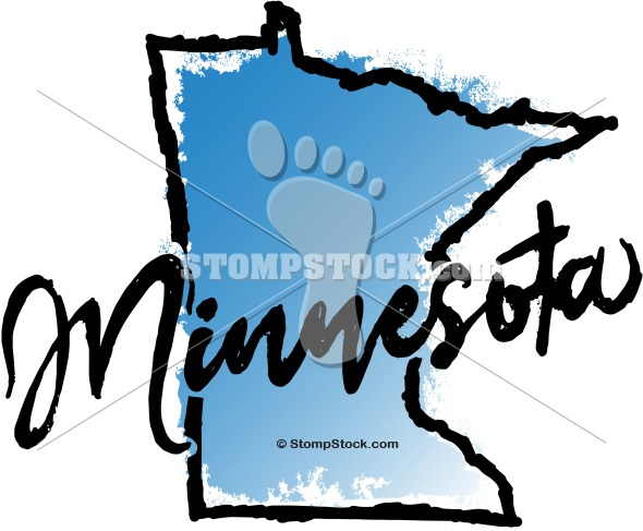 Minnesota State Graphic Clip Art