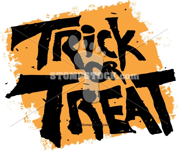 Trick or Treat Halloween Bag Graphic