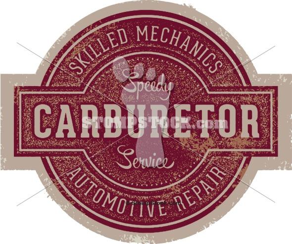 Vintage Auto Service Shop Sign Logo