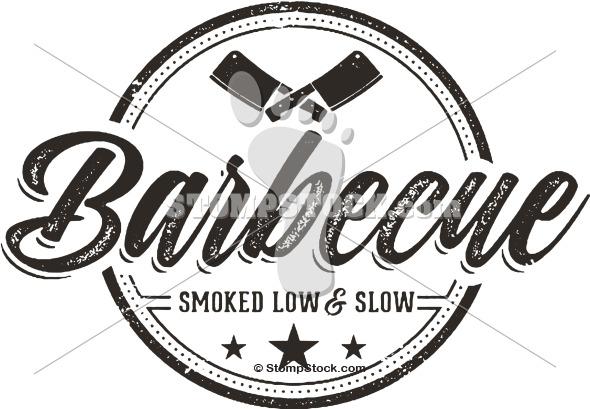 Vintage BBQ Logo Stamp