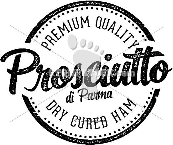 Vintage Prosciutto di Parma Label Stamp