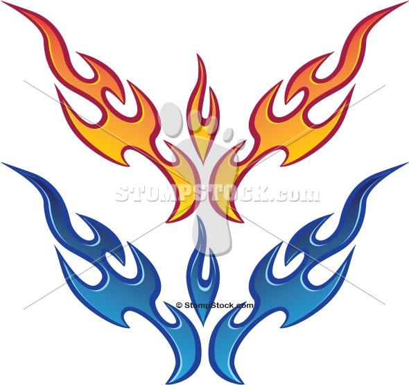 Vector Flame Fire Clip Art