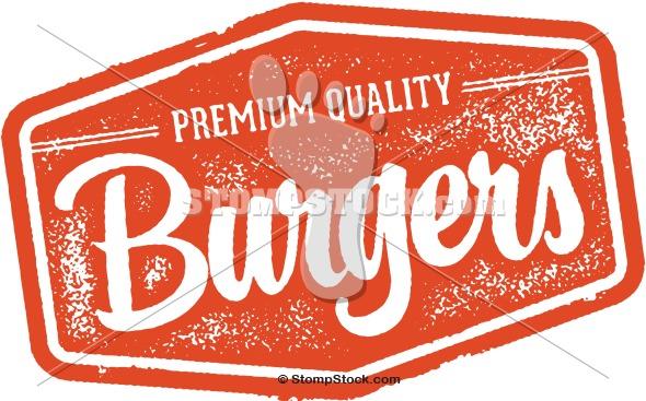 Vintage Burgers Restaurant Logo Graphic