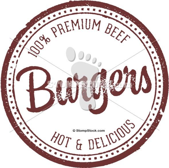 Premium Beef Burgers Rubber Stamp