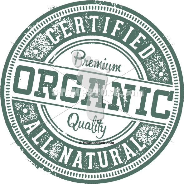 Certified Organic Product Label Stamp