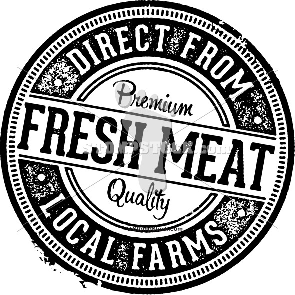 Fresh Meat Product Label Stamp