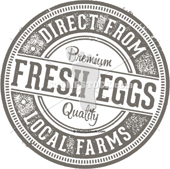 Fresh Eggs from Local Farms Rubber Stamp
