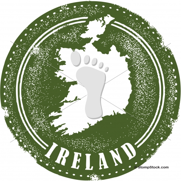 Vintage Ireland Country Vector Stamp