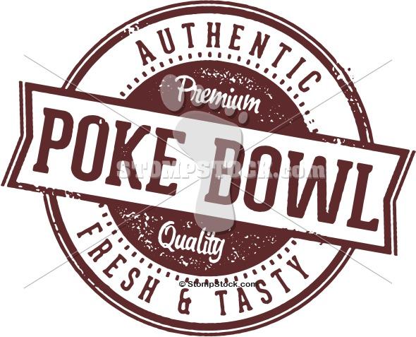 Poke Bowl Vector Clip Art Stompstock Royalty Free