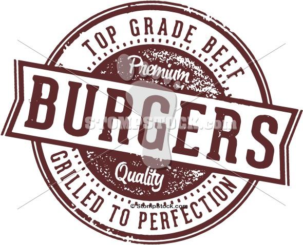 Vintage Burgers Clip Art