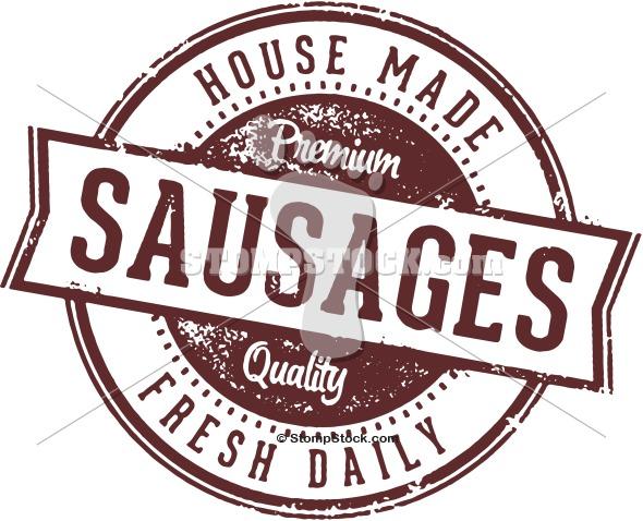Fresh Sausages Clip Art