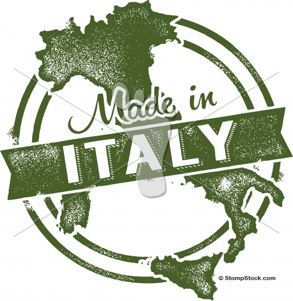 Vintage Made in Italy Vector Icon