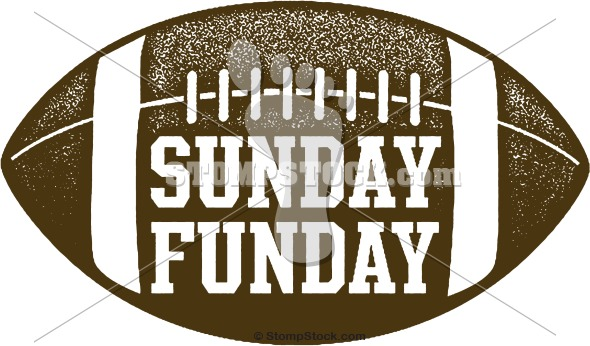 Sunday Funday Football Graphic Stompstock Royalty Free