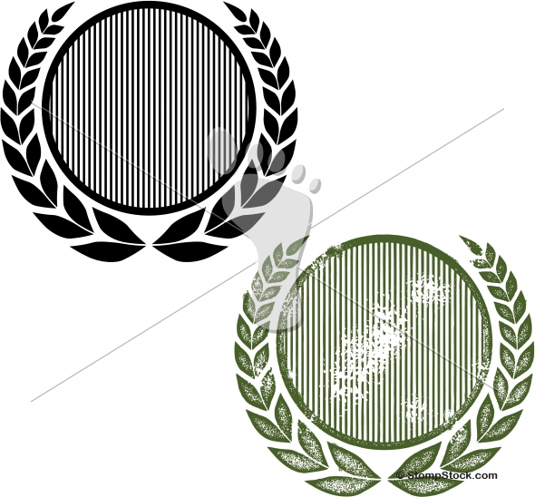 Grunge Laurel Wreath Vector