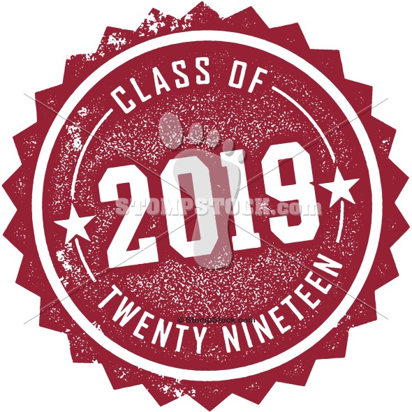 class of 2019 invitation stamp graphic stompstock royalty free