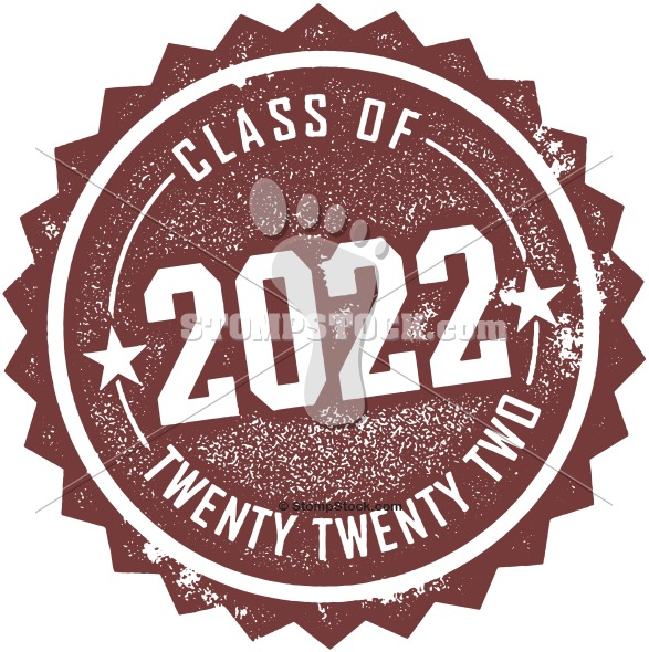class of 2022 invitation stamp graphic stompstock royalty free