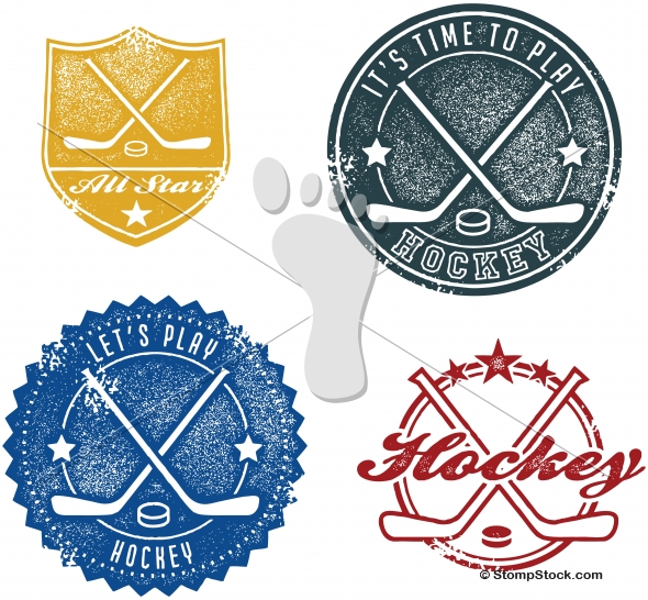 Vintage Style Hockey Sports Graphics