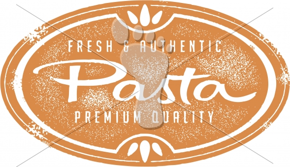 Vintage Style Fresh Pasta Menu Sign
