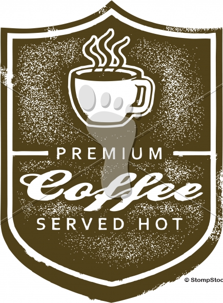 Vintage Premium Coffee Shop Sign