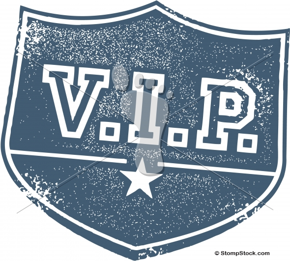 Very Important V.I.P. Badge Vector