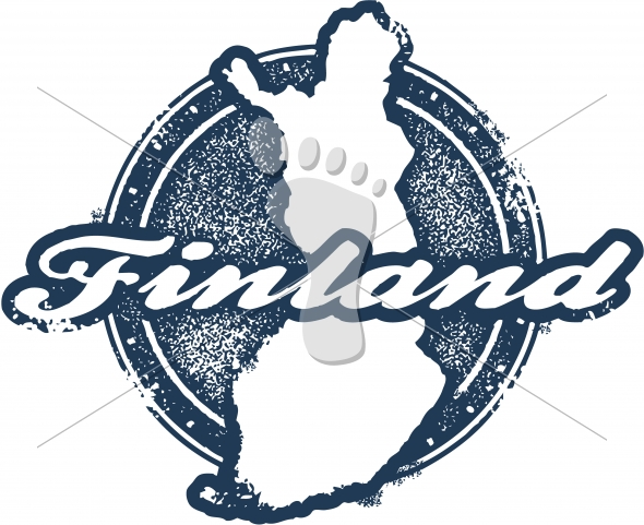 Vintage Finland Vector Graphic