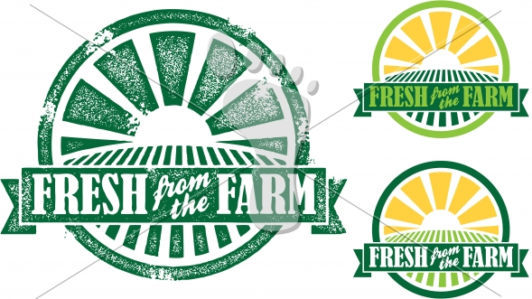 Fresh from the Farm Vector Signs