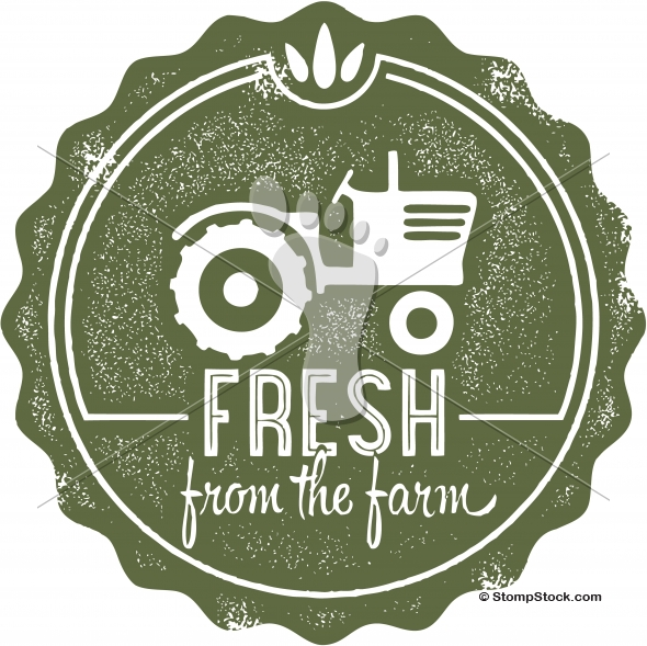 Fresh from the Farm Vintage Vector Graphic