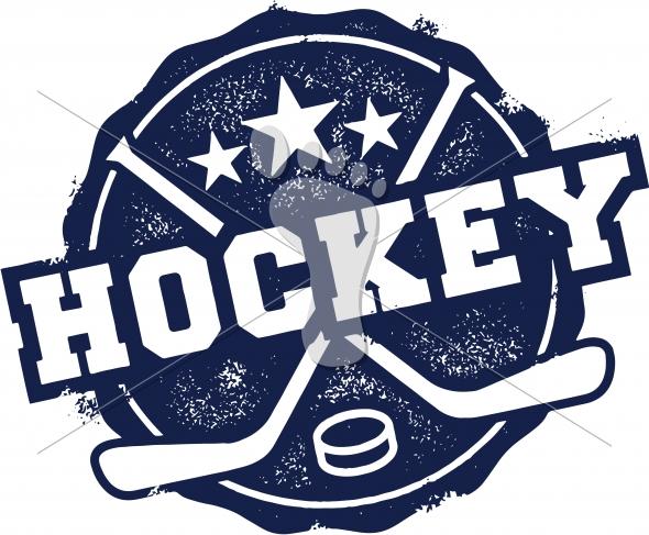 Vintage Hockey Sport Vector Graphic