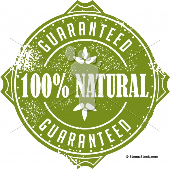 Vintage 100% Natural Product Stamp