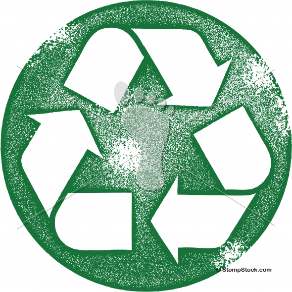 Grunge Vector Recycle Symbol